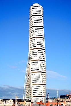 Turning Torso, built in 2006, architect Santiago Calatrava, Malmo, Sweden, Scandinavia, Europe