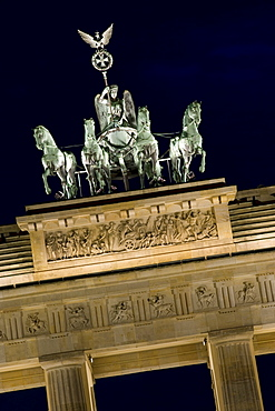 Quadriga, Brandenburg Gate, Berlin, Germany, Europe