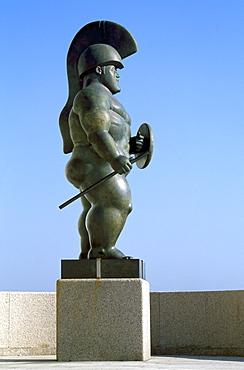 Statue by Botero, Museo Domus, A Coruna, Galicia, Spain, Europe