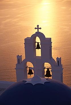 Church, Firostefani, Santorini, Cyclades, Greek Islands, Greece, Europe