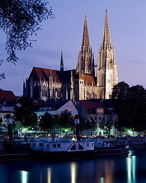 Regensburg Cathedral, Regensburg, Bavaria, Germany, Europe
