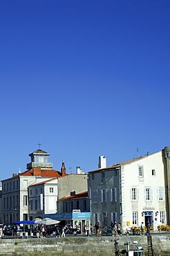 Traditional buildings, Saint Martin, Il de Re, Poitou-Charentes, Charente-Maritime, France, Europe