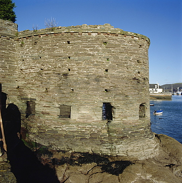 View of the Bayards Cove Fort from the south, Dartmouth, Devon, England, United Kingdom, Europe