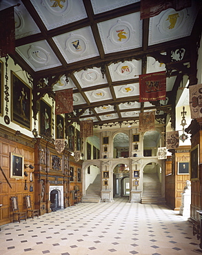 The Great Hall, Audley End, Essex, England, United Kingdom, Europe