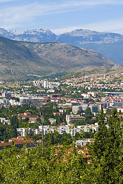 View over the town of Mostar, Bosnia-Herzegovina, Europe