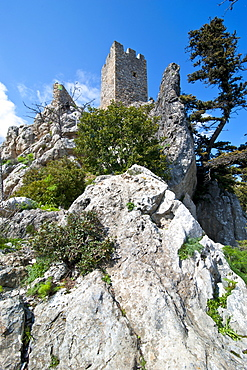 Crusader castle of St. Hilarion, Turkish part of Cyprus, Cyprus, Europe