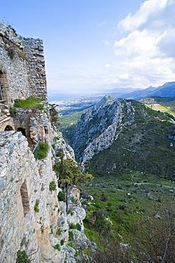 Crusader castle of St. Hilarion, Turkish part of Cyprus, Europe