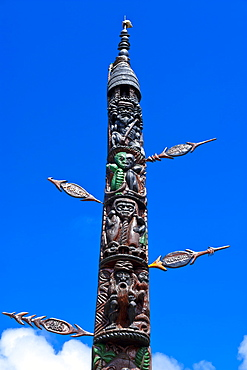 Traditional wood carving in Noumea, New Caledonia, Melanesia, South Pacific, Pacific