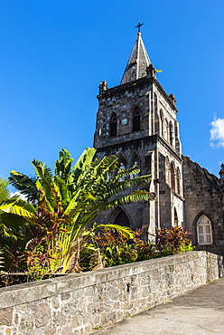 Anglican church in Roseau capital of Dominica, West Indies, Caribbean, Central America