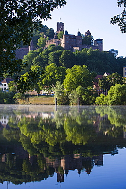 The castle of Wertheim in the Main valley, Franconia, Bavaria, Germany, Europe