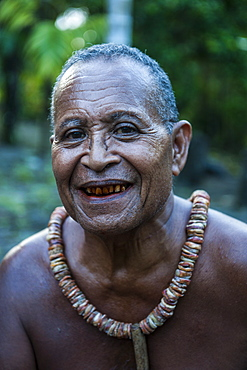 Old islander on the Island of Yap, Federated States of Micronesia, Caroline Islands, Pacific