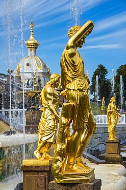Peterhof (Petrodvorets), UNESCO World Heritage Site, St. Petersburg, Russia, Europe