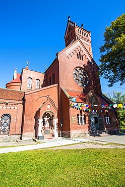 Church of Sts Simon and Elena on Nezalezhnasti Independence square, Minsk, Belarus, Europe