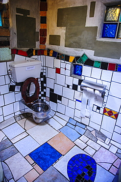 Hundertwasser toilet in Kawakawa, Northland, North Island, New Zealand, Pacific