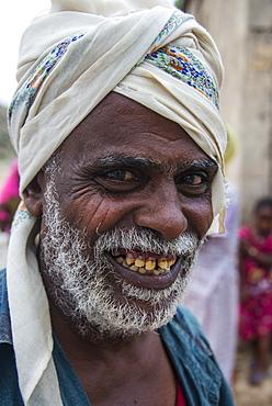 Friendly old Bedouin man, lowlands of Eritrea, Africa
