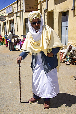 Traditionally dressed man at the Market of Adi Keyh, Eritrea, Africa