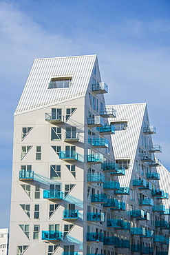 Isbjerget (iceberg) design apartment buildings in Aarhus, Denmark, Scandinavia, Europe