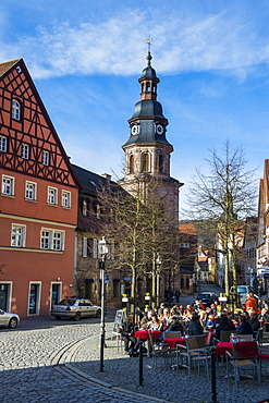 Town square in the center of Kulmbach, Upper Franconia, Bavaria, Germany, Europe