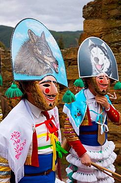 'Peliqueiros', carnival, Laza, Orense province, Spain