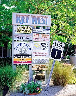 Roadsign, Florida, USA