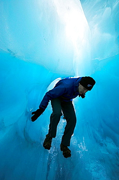 New Zealand, South Island, West Coast, Franz Josef Glacier, Blue Ice Cave, 2005