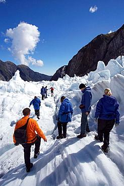 New Zealand, South Island, West Coast, Franz Josef Glacier, Heli_hikers, 2005