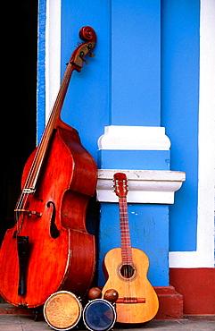 Instruments in a street of Trinidad de Cuba, Cuba