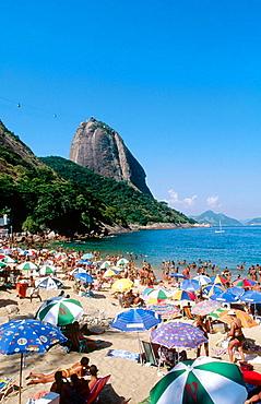 Praia Vermelha (Red Beach) and Sugarloaf, Rio de Janeiro, Brazil
