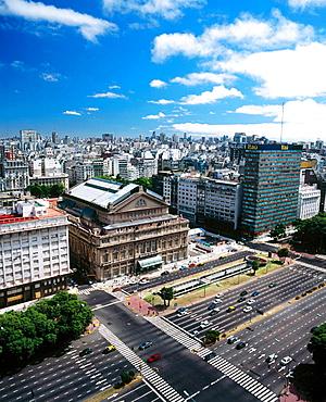 Teatro Colon in Avenida Nueve de Julio, Buenos Aires, Argentina