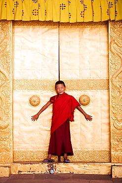 Bhutan, Punakha, Punakha Dzong Monastery, Buddhist Monk