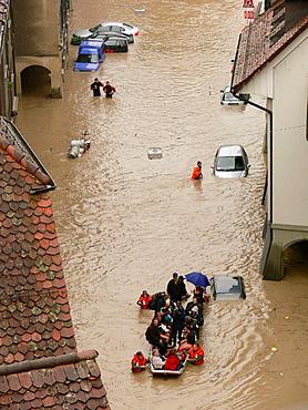 Floods of Aare River, Berne, Switzerland