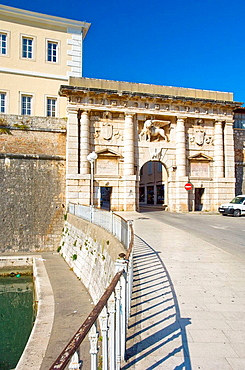 The Land Gate in the walled city of Zadar, Croatia