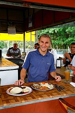 Local restaurant also known as Soda at the town of La Fortuna, Costa Rica