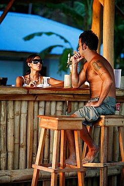 People at the D&A beach bar, Santa Teresa nicoya peninsula, Costa Rica