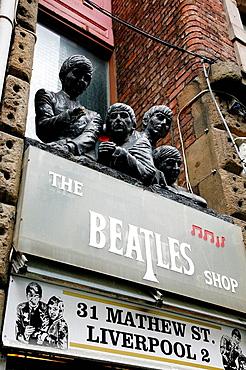The beatles shop, Liverpool, England, UK