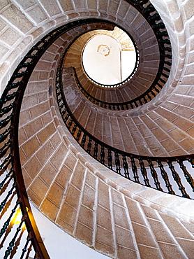 Stairs in the Museo do Pobo Galego, Santiago de Compostela, La Coruna province, Galicia, Spain