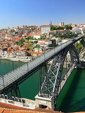 Dom Luis I Bridge over Douro river, Porto, Portugal