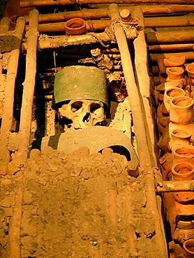 Sipan tomb, detail, Museo de la Nacion de Lima, Peru