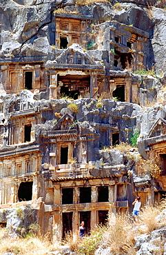 Lycian tumbs in Myra (Demre), Lycian Coast, Turkey