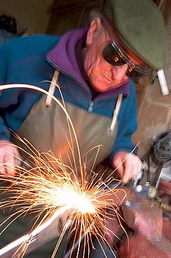 Man welding, Lurcy-Levis, France