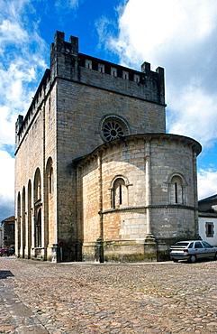 St, John's Romanesque church, Portomarin, Road to Santiago, Lugo province, Galicia, Spain