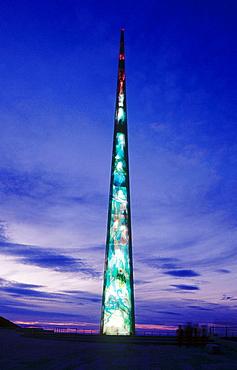 Millennium obelisk, La Coruna, Galicia, Spain