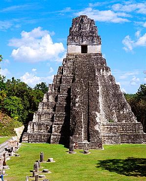 Temple of the Giant Jaguar (Temple I), Mayan ruins of Tikal, Guatemala