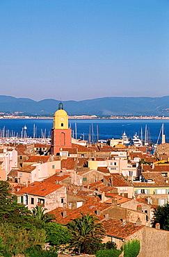 Saint Tropez village, Cote d'Azur, Var departement, France