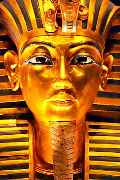 Tutankhamen death Mask, Egyptian Museum, Cairo, Egypt