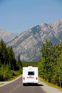 Rental Recreational Vehicle RV Canadian Rockies Canadian Rocky Mountains Banff National Park