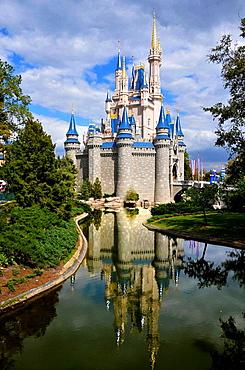 Cinderella Castle at Walt Disney Magic Kingdom Theme Park Orlando Florida Central