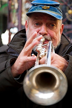 jazz music in the downtown of Prague, Czech Republic
