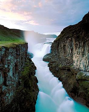 Waterfall, Gullfoss, Iceland