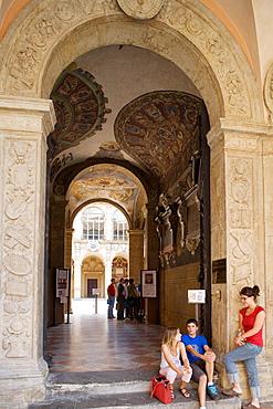 Palazzo dell'Archiginnasio, Bologna, Emilia-Romagna, Italy